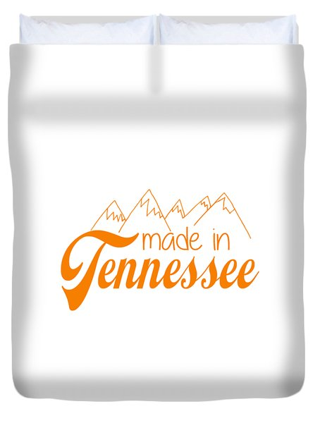 Duvet Cover featuring the digital art Made In Tennessee Orange by Heather Applegate