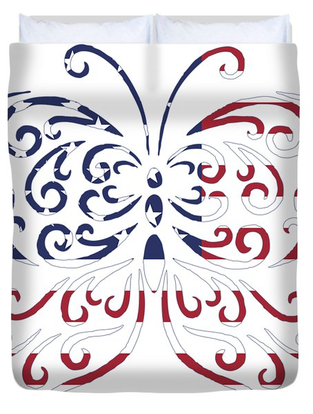 Made In The Usa Tribal Butterfly Duvet Cover
