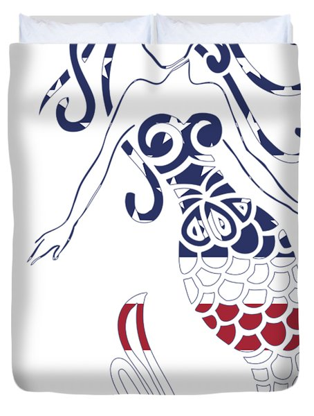 Made In The Usa Tribal Mermaid Duvet Cover