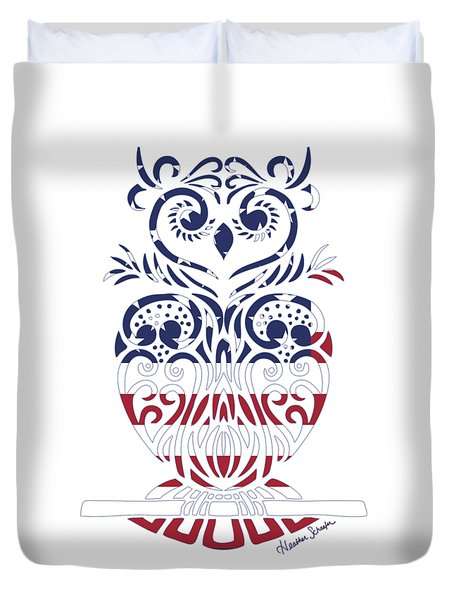 Made In The Usa Tribal Owl Duvet Cover