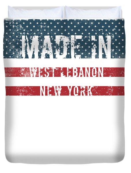 Made In West Lebanon, New York Duvet Cover