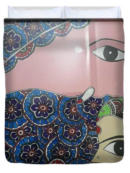 Madhubani Ganesha Duvet Cover