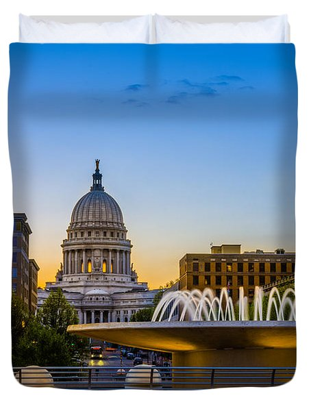 Madison Domes Duvet Cover by Mark Goodman