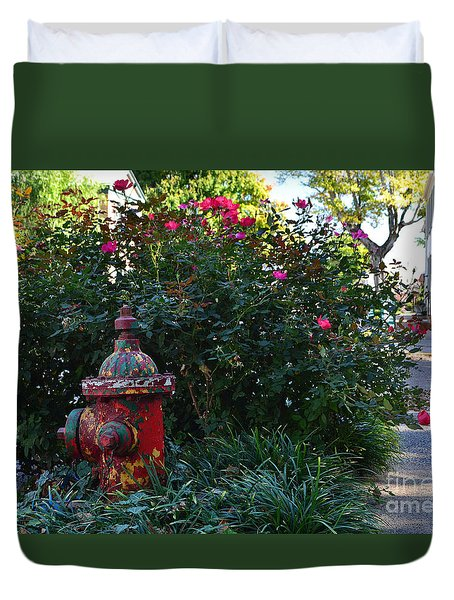 Madison Fire Hydrant Duvet Cover