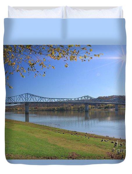 Madison, Indiana Bridge  Duvet Cover
