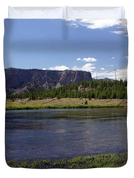 Madison River Valley Duvet Cover by Marty Koch