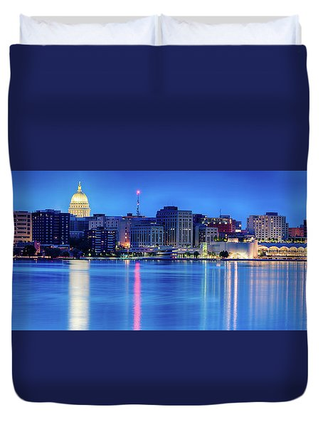 Madison Skyline Reflection Duvet Cover