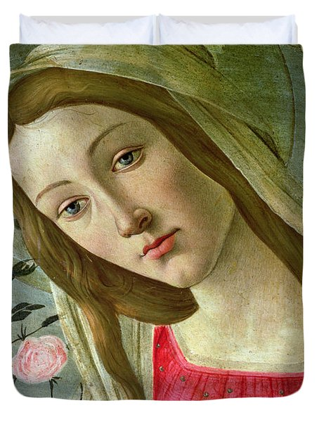 Madonna And Child Crowned By Angels Duvet Cover by Sandro Botticelli