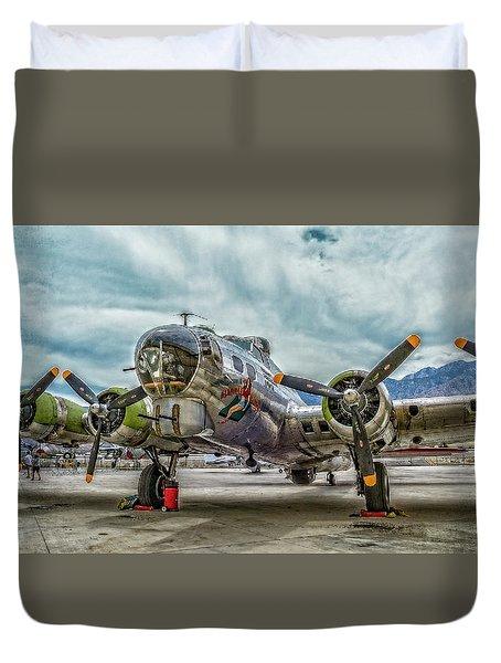 Madras Maiden B-17 Bomber Duvet Cover