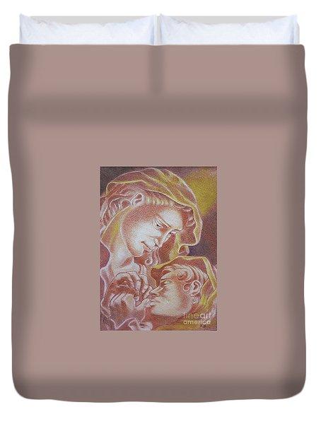 Madre Y El Nino Duvet Cover