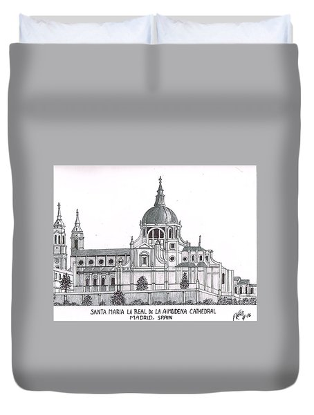 Madrid Cathedral Aimudena Duvet Cover