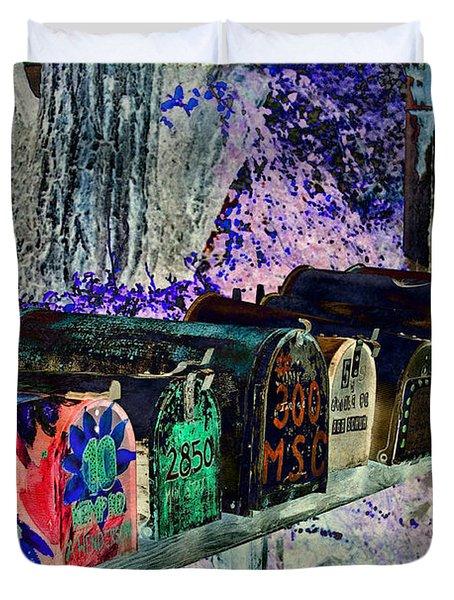 Madrid Mailboxes Duvet Cover