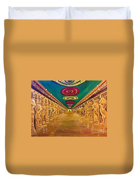 Madurai Meenakshi Temple Mandapam Duvet Cover
