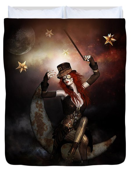 Maestro Steampunk Duvet Cover by Shanina Conway