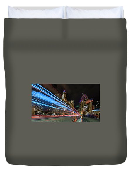 Duvet Cover featuring the photograph Mag Mile Warp Speed by Sean Foster