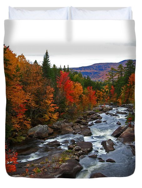 Magalloway River In Fall Duvet Cover