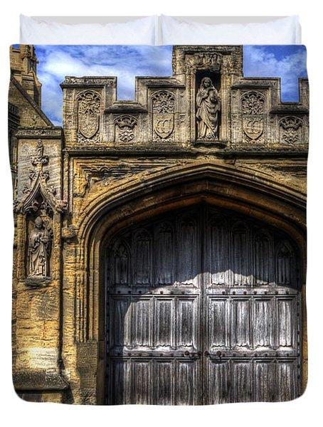 Magdalen College Door - Oxford Duvet Cover