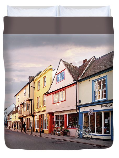 Duvet Cover featuring the photograph Magdalene Street Cambridge by Gill Billington