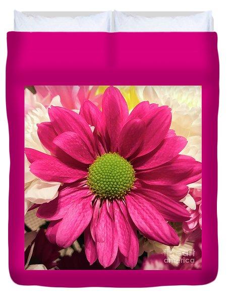 Magenta Chrysanthemum Duvet Cover