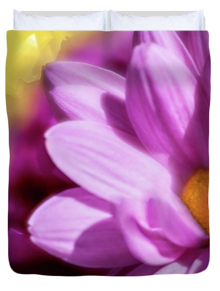 Magenta Floral Duvet Cover