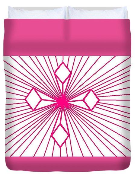 'magenta Lines 1' Duvet Cover