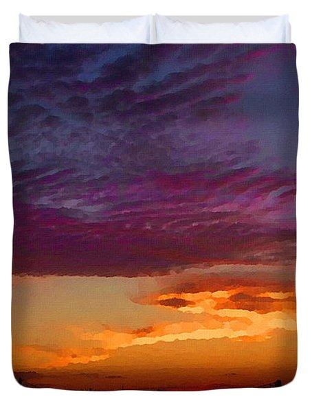 Magenta Morning Sky Duvet Cover