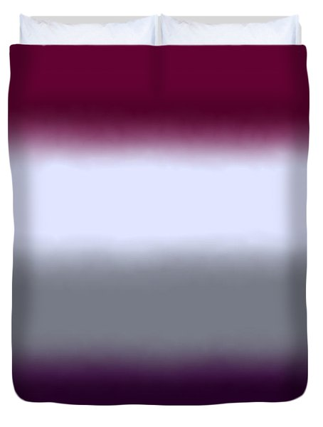 Magenta Purple - Sq Block Duvet Cover