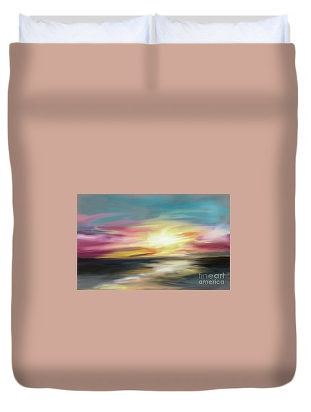 Magenta Sea Duvet Cover