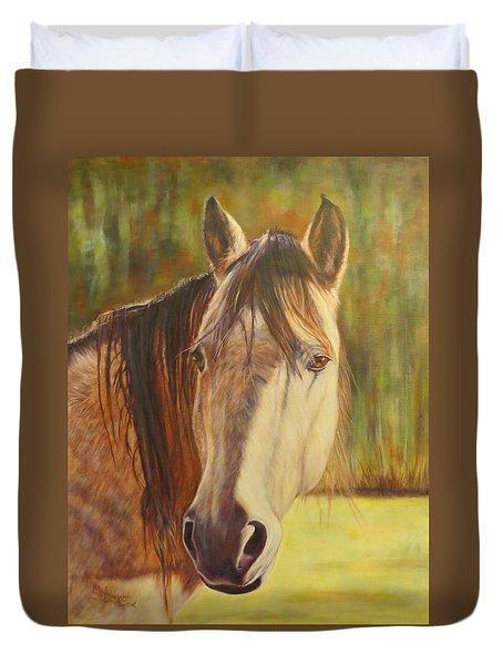 Maggie, Horse Portrait Duvet Cover