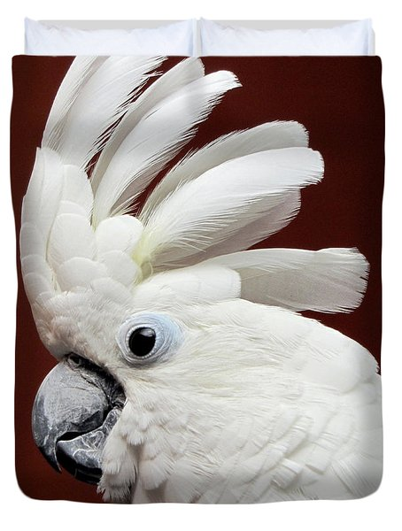 Maggie The Umbrella Cockatoo Duvet Cover