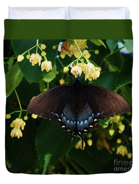 Duvet Cover featuring the photograph Magic Butterfly by J L Zarek