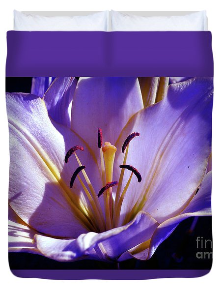 Magic Floral Poetry Duvet Cover