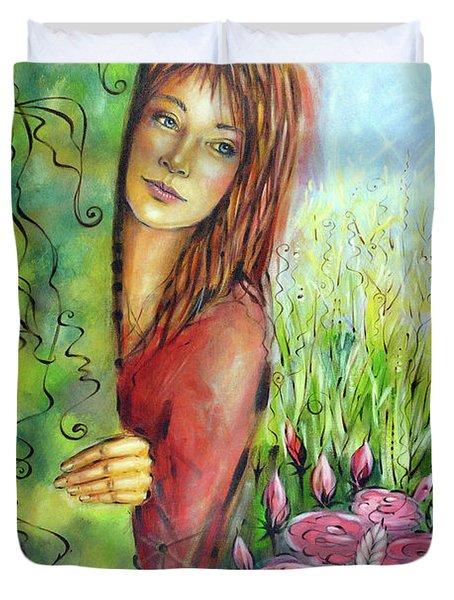 Magic Garden 021108 Duvet Cover by Selena Boron