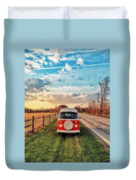 Magic Hour Magic Bus Duvet Cover