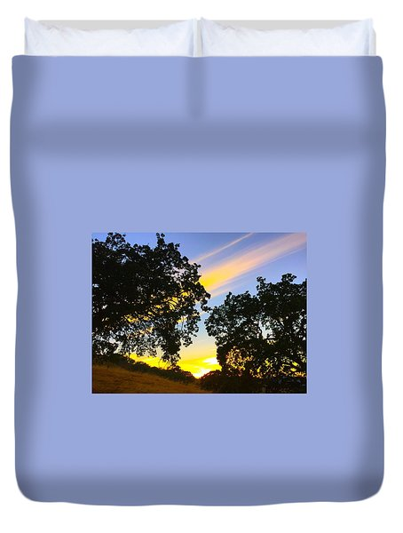 Magic Hour Sunset Duvet Cover