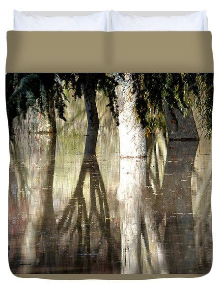 Magic In The Park Duvet Cover by Pamela Patch