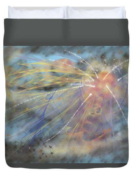 Magic In The Skies Duvet Cover by Angela A Stanton