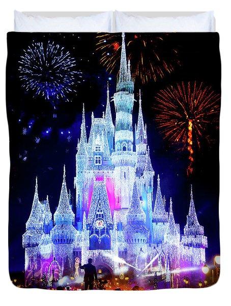 Magic Kingdom Fireworks Duvet Cover