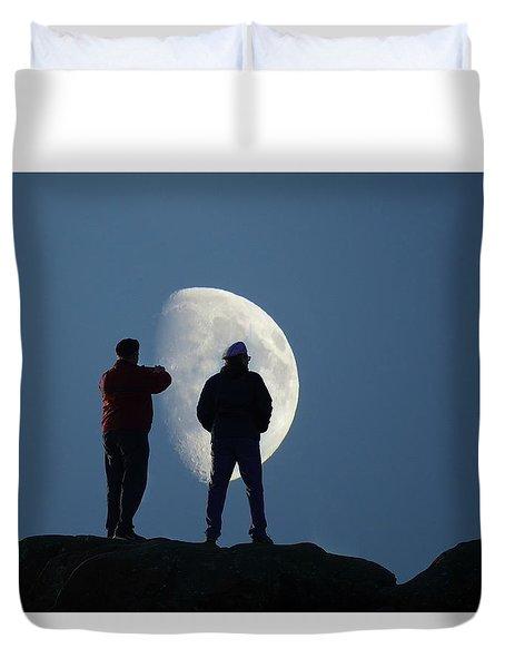 Magic Landscapes 2 -- Moon Men Duvet Cover by Rick Lawler