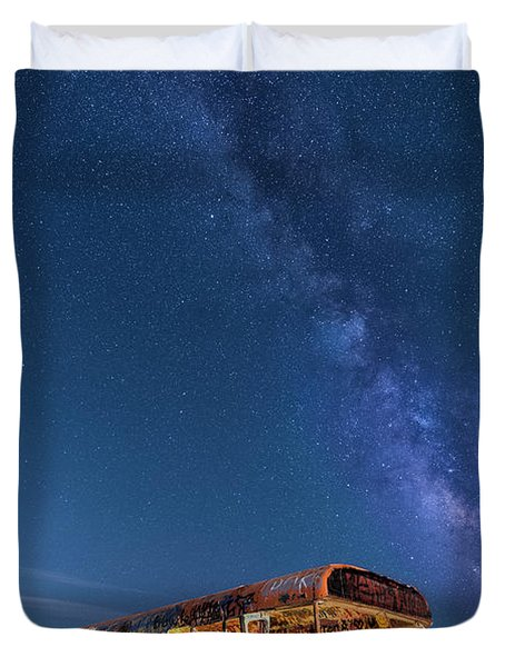Magic Milky Way Bus Duvet Cover