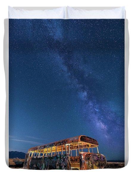 Magic Milky Way Bus Duvet Cover