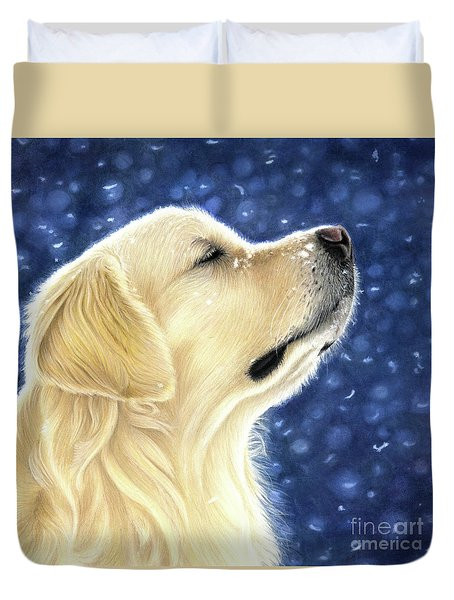 Duvet Cover featuring the mixed media Magic Moment by Donna Mulley