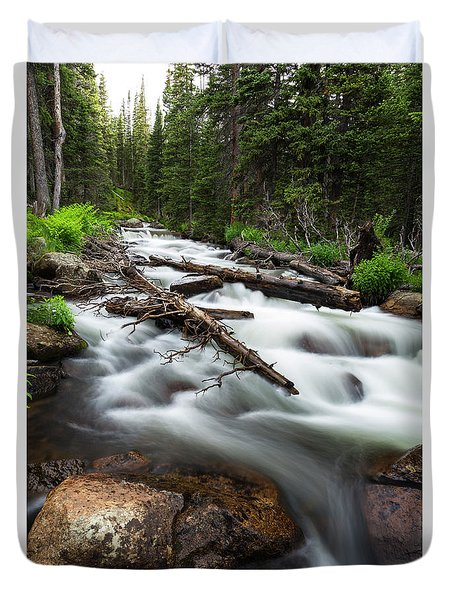 Duvet Cover featuring the photograph Magic Mountain Stream by James BO Insogna
