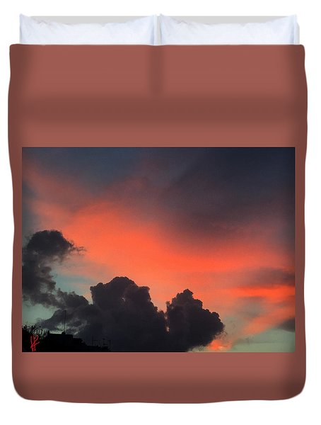 Late Day On Paros Island  Duvet Cover
