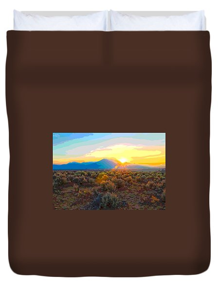 Magic Over Taos Duvet Cover