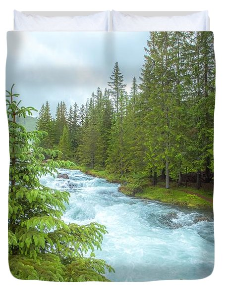 Duvet Cover featuring the photograph Magic by Rose-Maries Pictures