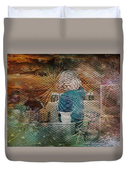 Duvet Cover featuring the photograph Magic Shop by Kathie Chicoine