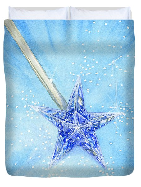 Duvet Cover featuring the painting Magic Wand by Cindy Garber Iverson