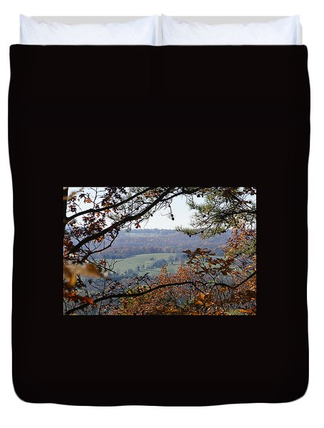Duvet Cover featuring the photograph Magic Window by Heidi Poulin