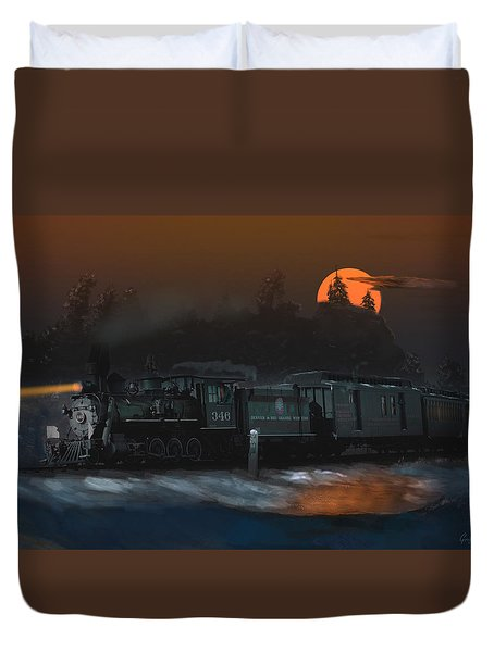 The Last Mile Before Home Duvet Cover by J Griff Griffin